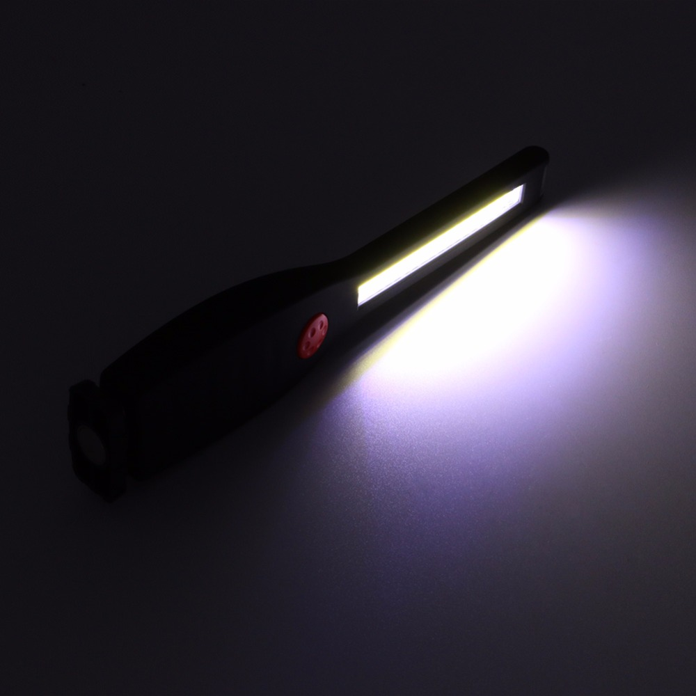 Battery Powered COB LED 2 Modes Portable Flashlight Outdoor Camping Work Light with Magnetic