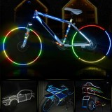 BIKIGHT 315″ Cycling MTB Bike Safety Reflective Wheel Sticker for Xiaomi Scooter Bike Decal Tape