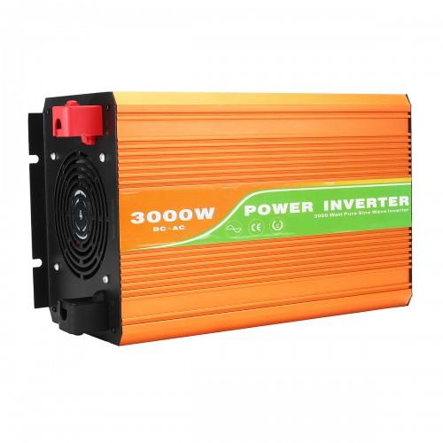 3000W Solar Power Inverter DC 24V to AC 110V/220V Pure Sine Wave Converter Power Supply Adapter