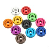 Suleve M3AN12 10Pcs M3 Knurled Thumb Nut w/ Collar Screw Spacer Washer Aluminum Alloy Multicolor