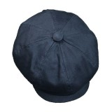 M/L Men Unisex Washed Cotton Newsboy Beret Caps Outdoor Painter Octagonal Cabbie Flat Hat