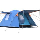 Outdoor 3-4 People Automatic Tent Camping Waterproof Double Layer Canopy Sunshade