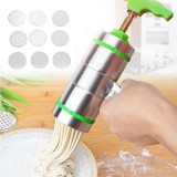 9 Mode Card Stainless Steel Manual Noodle And Pasta Maker Press Spaghetti Kitchen Meat Press