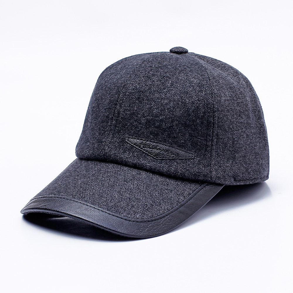 Men Women Middle-aged Cotton Baseball Cap Outdoor Sport Earmuffs Warm Peaked Cap