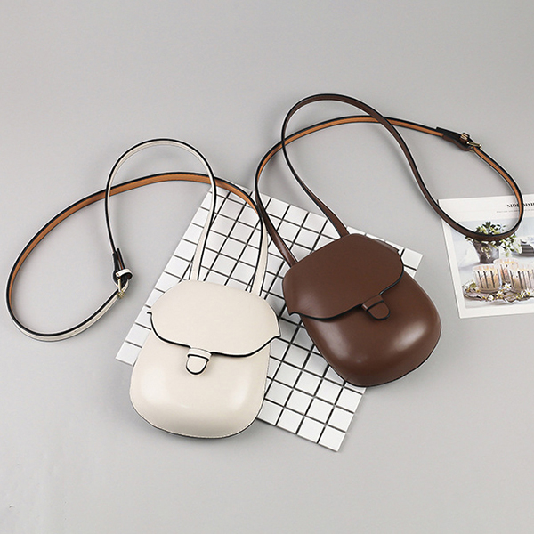 Women Faux Leather Shell Bag Leisure Shoulder Bag Bucket Bag Crossbody Bag Phone Bag