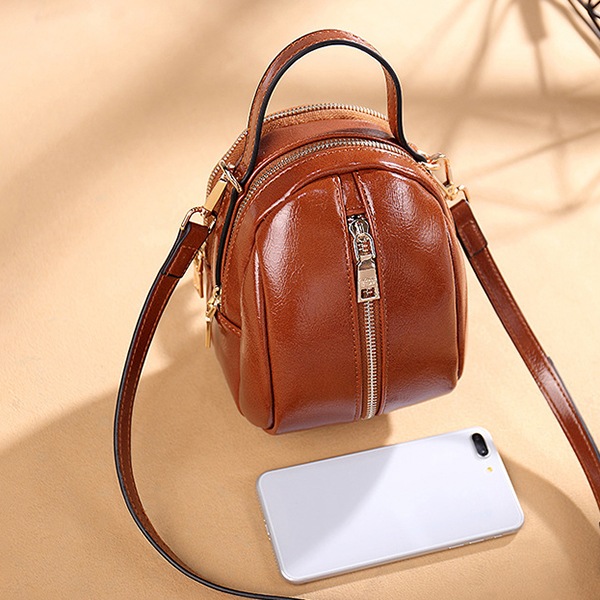 Women Faux Leather Wild Crossbody Bag Fashion Shell Bag Shoulder Bag Handbag