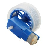 3Pcs Blue Color Rubber Wheels + 3-6v TT Motor DIY Kit For Arduino Smart Chassis Car Accessories