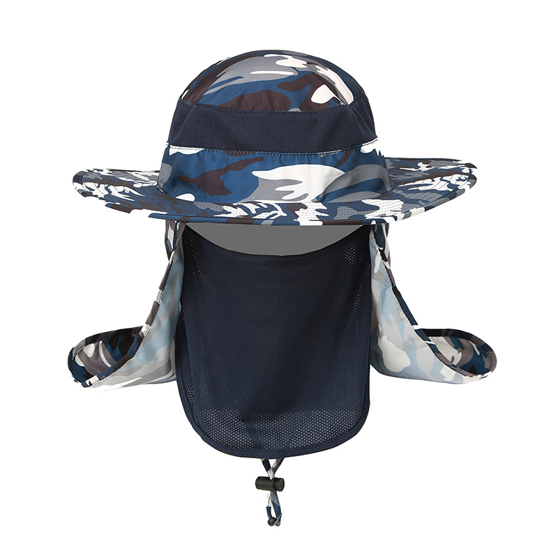 7be5489f6f4 More Detailed Photos  Men Outdoor Climbing Sunshade Hat Casual 360 Degree Sun  Protection ...