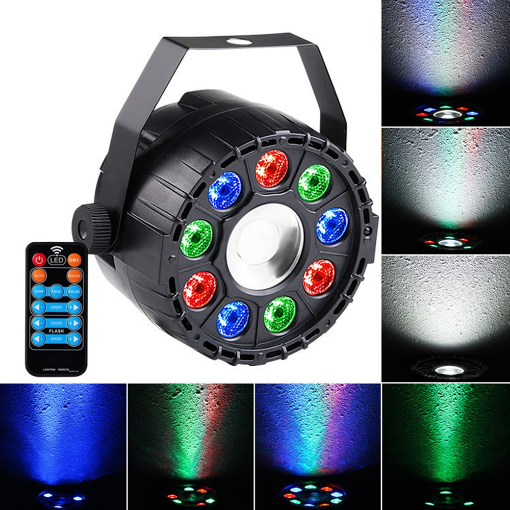 15W RGBW 10 LED Sound-activated Remote Control DMX Stage ...