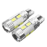 2Pcs T10 W5W LED Wedge Car Side Marker Lights Bulb Lamp with Lens 5W 450LM DC12V