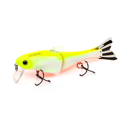 HF021 1pc 95mm 13g Minnow Fishing Lure Hard Bait 2 Sections Double Hook Luminous