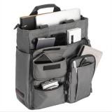 Men Nylon Waterproof Large Capacity Crossbody Bag Multi-functional Business Laptop Tablet Handbag