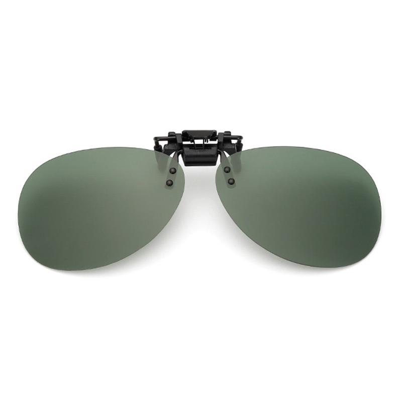 3Pcs Clip-on Night Vision UV400 Polarized Lens Glasses Outdoor Driving Sunglasses