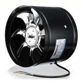 8 Inch 220V 80W Inline Duct Fan Booster Exhaust Blower Air Cooling Vent Stainless Steel Vane