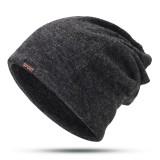 Mens Womens Winter Cotton Multifunctional Beanie Cap Scarf Outdoor Warm Brimless Hat
