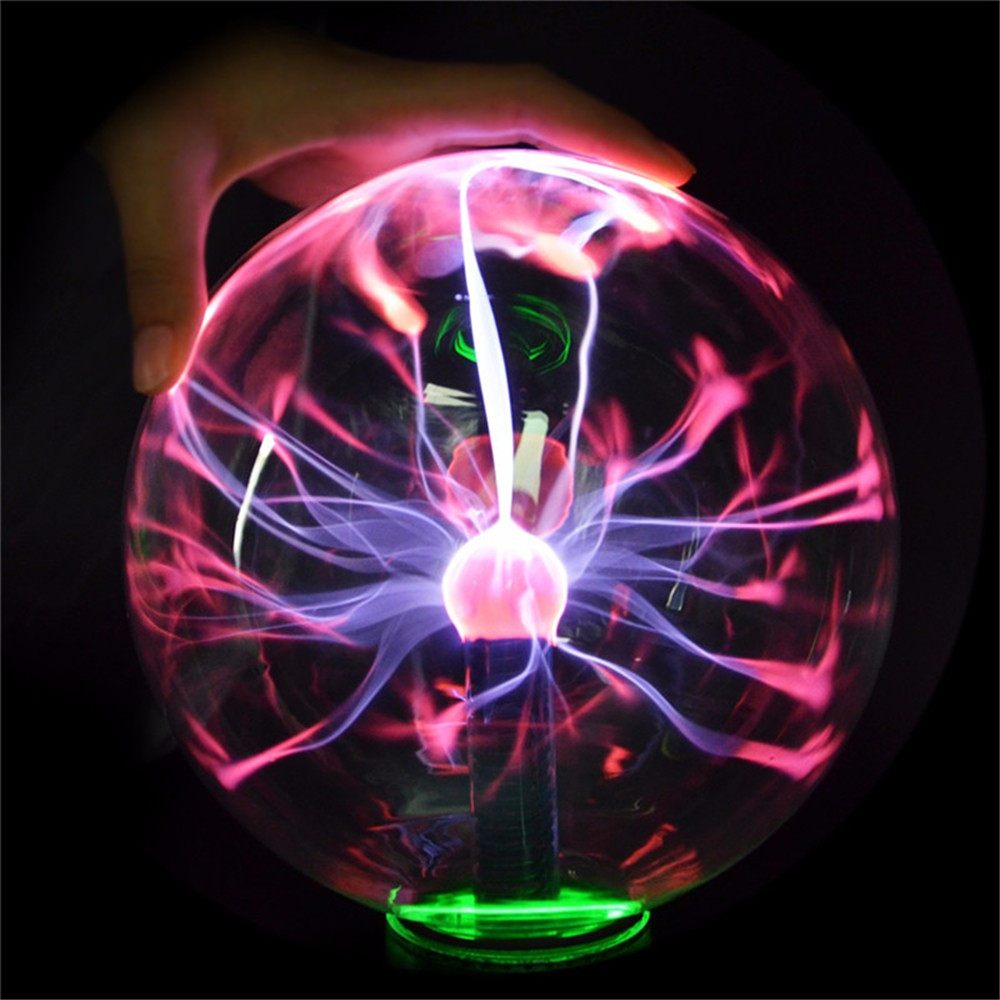 5 Inch Upgrade USB Music Plasma Ball Sphere Light Crystal Light Magic Desk  Lamp Novelty Light Home Decor
