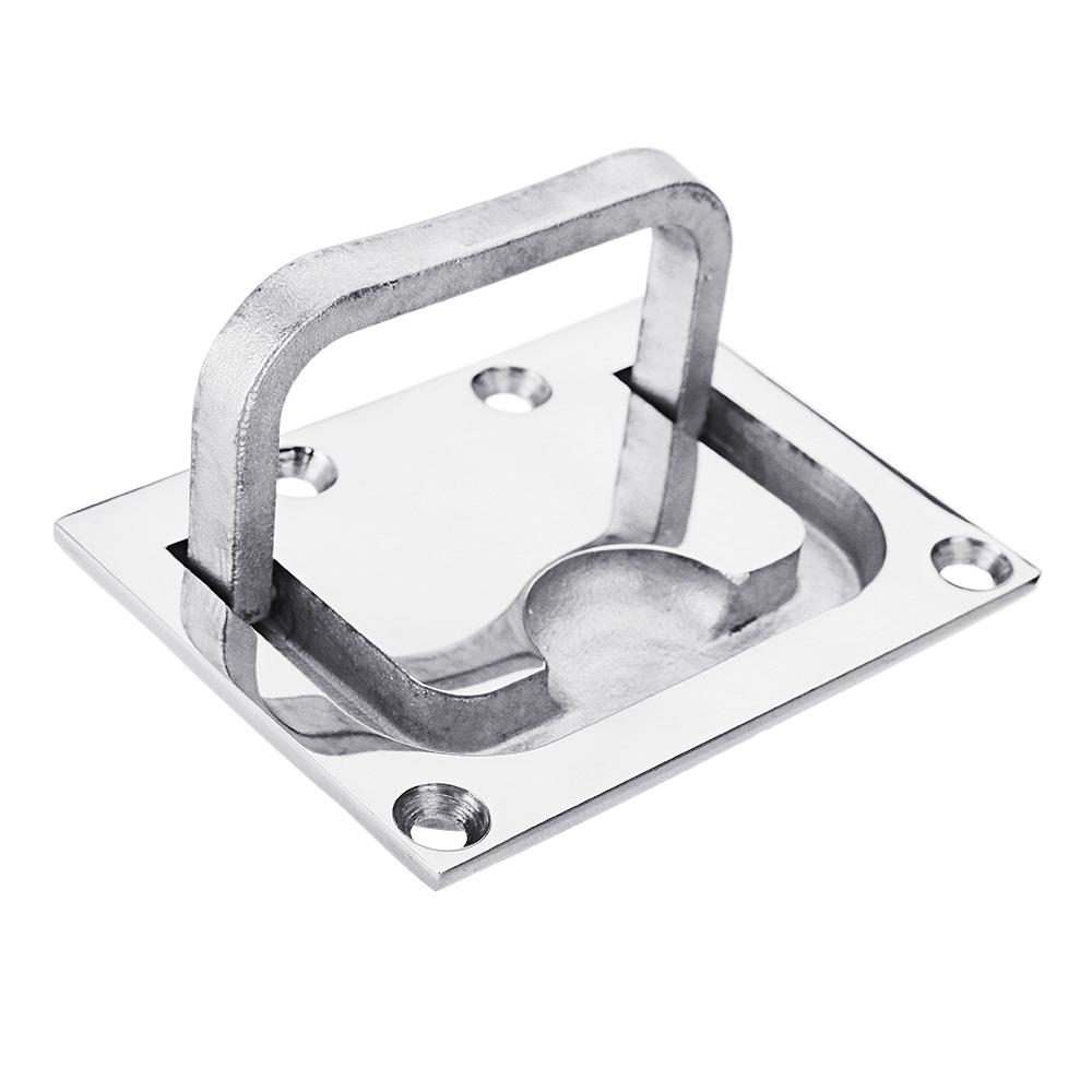 316 Stainless Steel Ring Handle Flush Hatch Locker Cabinet Pull Lift Boat Marine