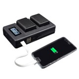 Palo FW50-C USB Rechargeable Battery Charger Mobile Phone Power Bank for NP-FW50 DSLR Camera Battery