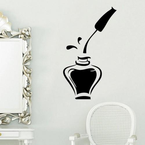 Nail Polish Beauty Manicure Salon Wall Sticker Window Vinyl Art Decal Sticker Home Decor