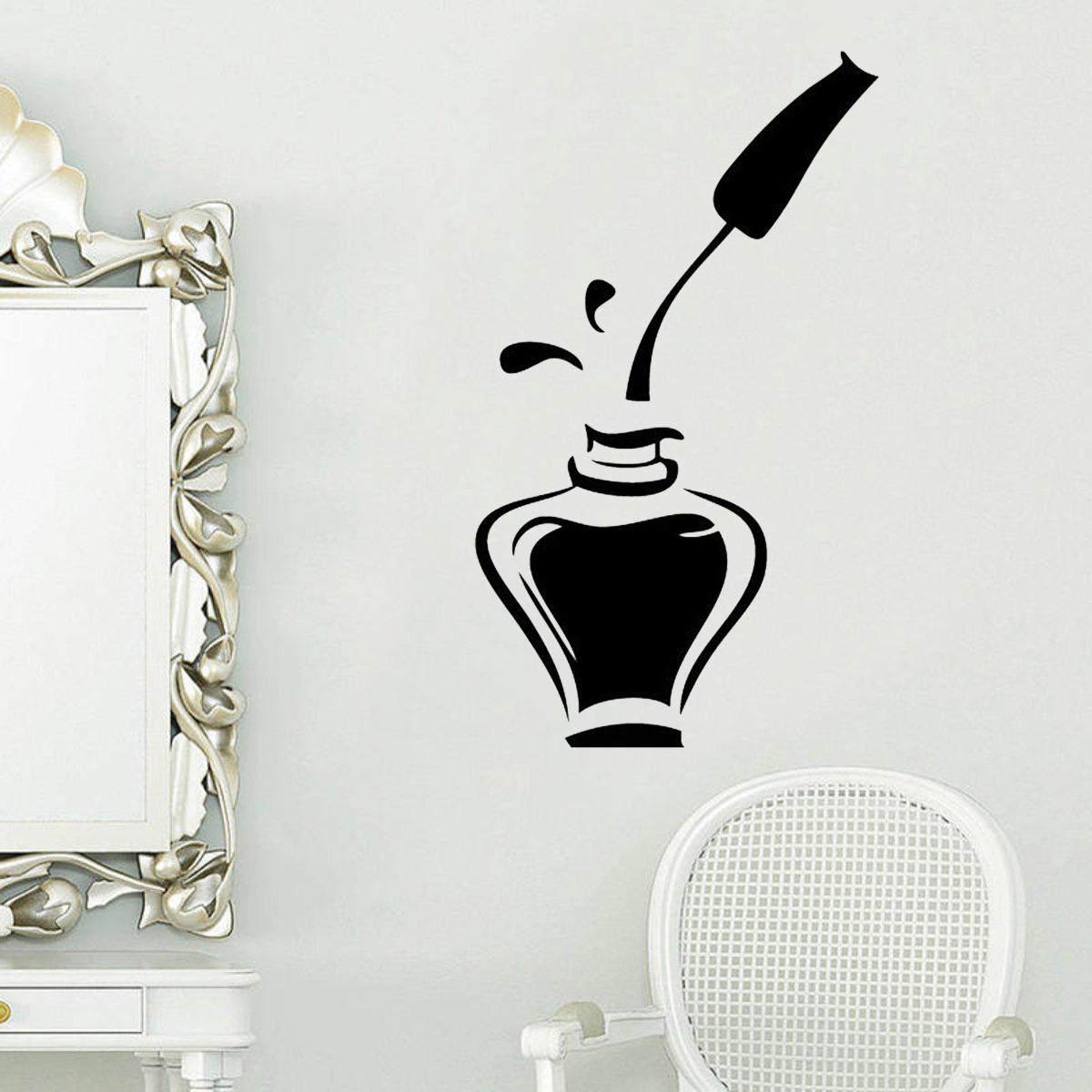 Princess Nail Art Salon Manicure Game For Girls Free: Nail Polish Beauty Manicure Salon Wall Sticker Window