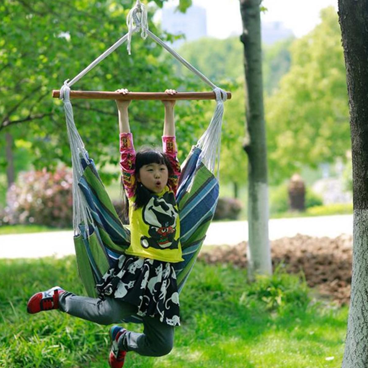 Outdoor Canvas Hammock Chair Swing Hanging Chair Relax Soft Indoor Garden Camping Swing