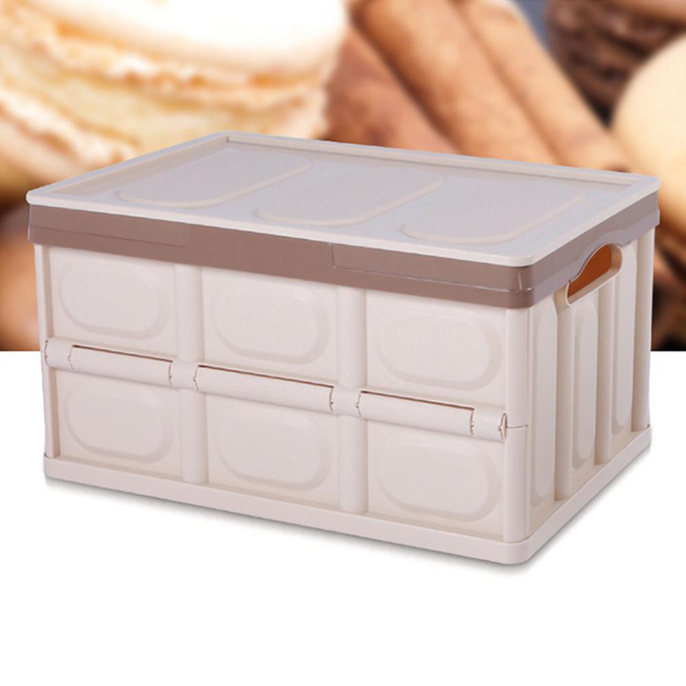 Blue Foldable Car Trunk Storage Box Backup Sundries Organizer Holder