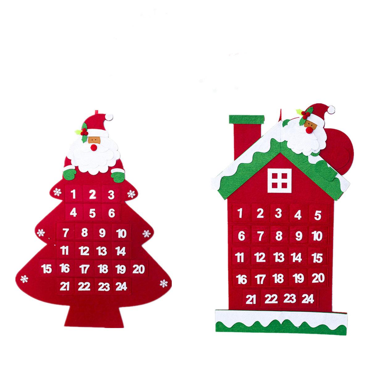 Felt Christmas Tree Advent Calendar: Christmas Tree Advent Calendar Felt Fabric Holiday