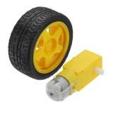 XIAO R DC Single Aixs 1:48 Gear Motor RC Models Gear Motor With 65MM Wheel