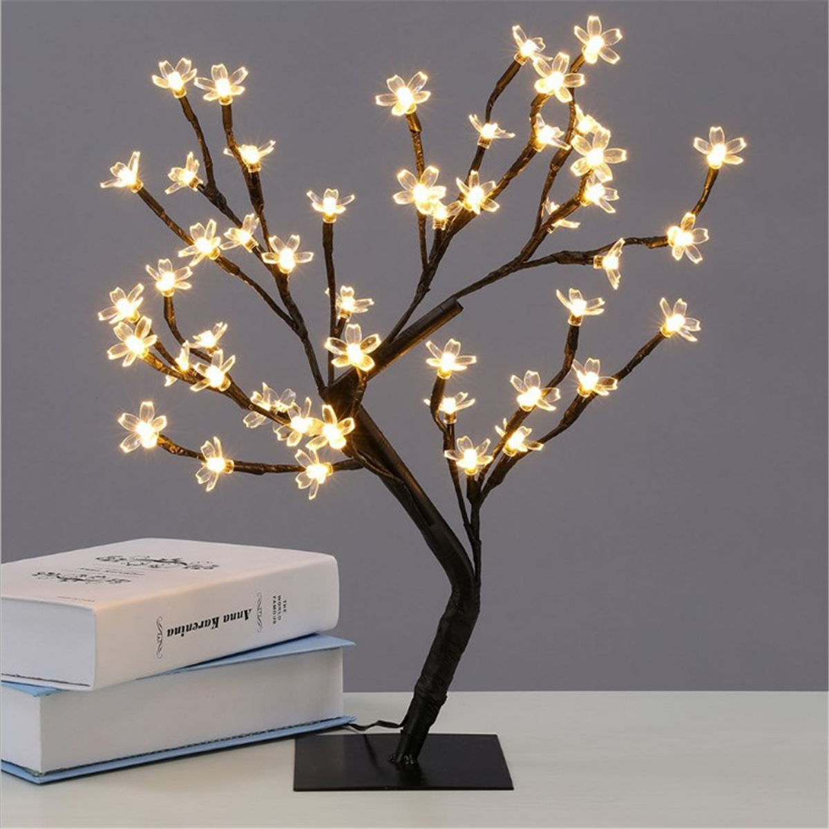 45cm Led Cherry Blossom Bonsai Sakura Tree With 72 Led