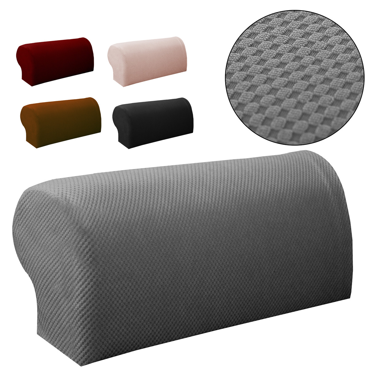 2pcs Premium Furniture Armrest Cover Sofa Couch Chair Arm