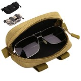 Military Camouflage Glasses Tactical Bag Mini Storage Molle Pouch Nylon Hip Bum Waist Belt Pack