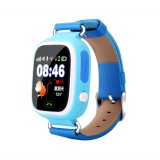 Q90 1.22 inch IPS Color Touch Screen Lovely Children Smartwatch GPS Tracking Wifi Watch, Support SIM Card, Positioning Mode, Voice Call, Pedometer, Alarm Clock, Sleep Monitoring, SOS Emergency Telephone Dialing (Blue)