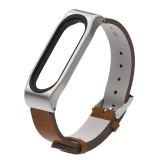 PU Leather Strap for Xiaomi Mi Band 3 Wrist Straps Screwless Magnetic Bracelet Mi Band3 Smart Band Replace Accessories, Host not Included