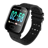 A6 1.3 inch IPS Color Screen Smart Watch IP67 Waterproof, Support Message Reminder / Heart Rate Monitor / Blood Oxygen Monitoring / Blood Pressure Monitoring/ Sleeping Monitoring (Black)