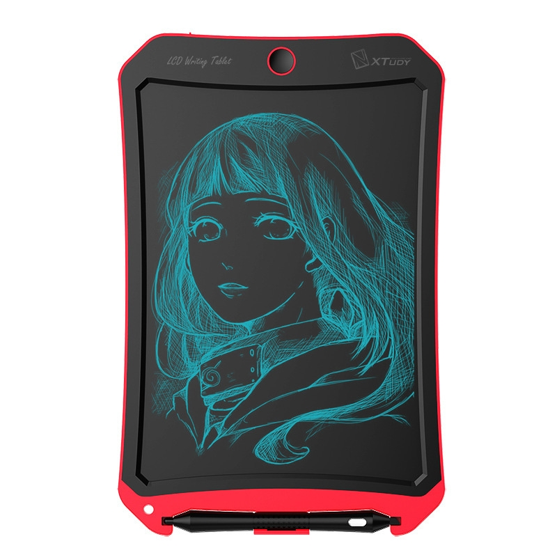 WP9309 8.5 inch LCD Monochrome Screen Writing Tablet Handwriting Drawing Sketching Graffiti Scribble Doodle Board or Home Office Writing Drawing (Red)