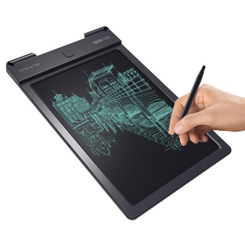 WP9310 9 inch LCD Monochrome Screen Writing Tablet Handwriting Drawing Sketching Graffiti Scribble Doodle Board or Home Office Writing Drawing (Black)