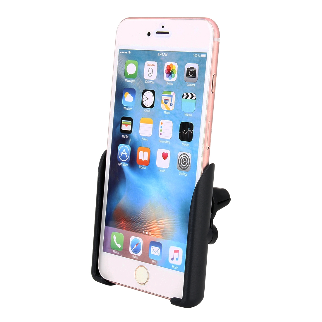 Universal Car Air Vent Mount Phone Holder Stand, Clip Width: 6-8.5cm, For iPhone, Galaxy, Sony, Lenovo, HTC, Huawei and other Smartphones (Black)