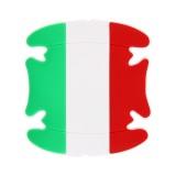 4 PCS Italian Flag Pattern Car-Styling Car Door Handle Scratches Resistant Sticker