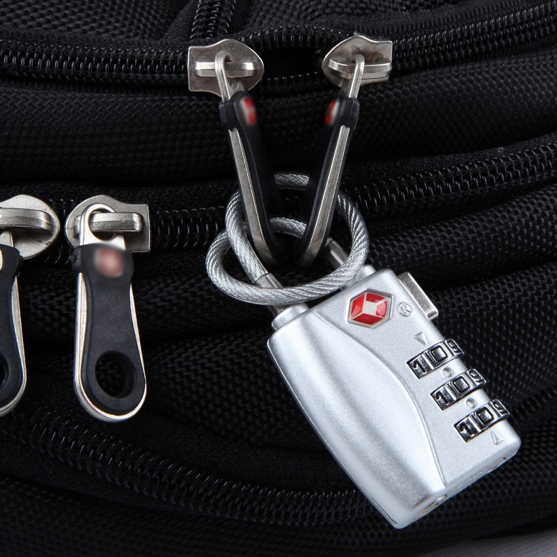 JASIT TSA719 Zinc Alloy 3-Digit Password TSA Lock Travel Luggage Padlock (Silver)