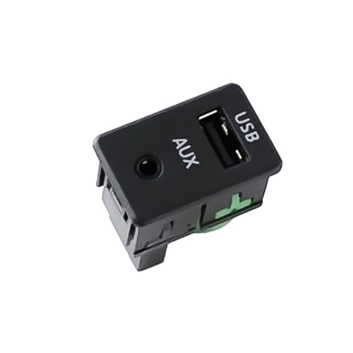 2 In 1 Car AUX & USB Adapter Switch Socket For Volkswagen