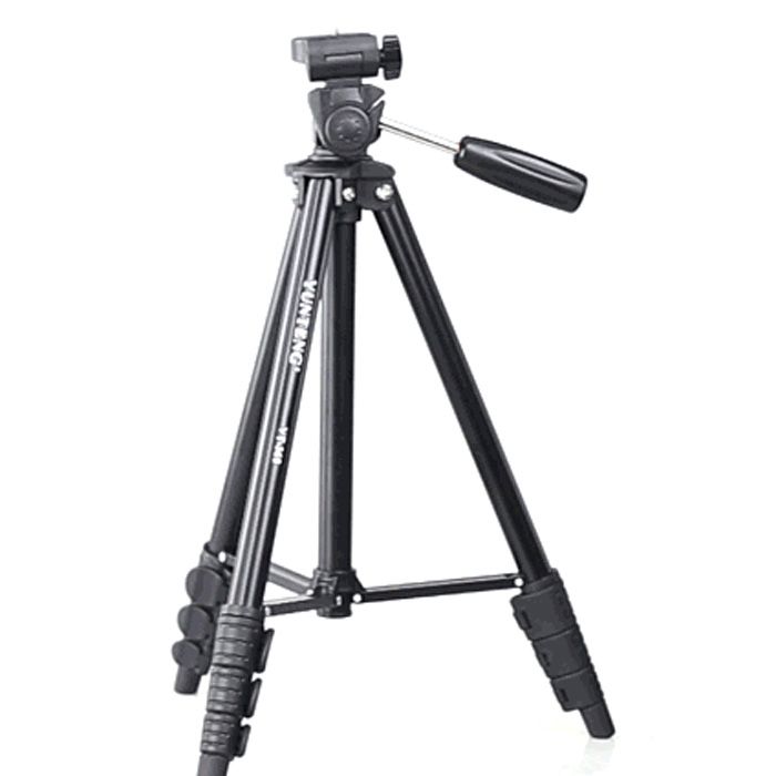 Camera Live Broadcast Tripod 4-Section Folding Legs Aluminum Alloy Tripod Mount with U-Shape Three-Dimensional Tripod Head for DSLR /& Digital Camera 35-106cm Foldable and Portable Adjustable Height