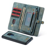 CaseMe-008 Detachable Multifunctional Horizontal Flip Leather Case for Huawei Mate 20, with Card Slot & Holder & Zipper Wallet & Photo Frame (Blue)