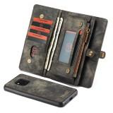CaseMe-008 Detachable Multifunctional Horizontal Flip Leather Case for Huawei Mate 20 Pro, with Card Slot & Holder & Zipper Wallet & Photo Frame (Black)