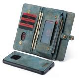 CaseMe-008 Detachable Multifunctional Horizontal Flip Leather Case for Huawei Mate 20 Pro, with Card Slot & Holder & Zipper Wallet & Photo Frame (Blue)