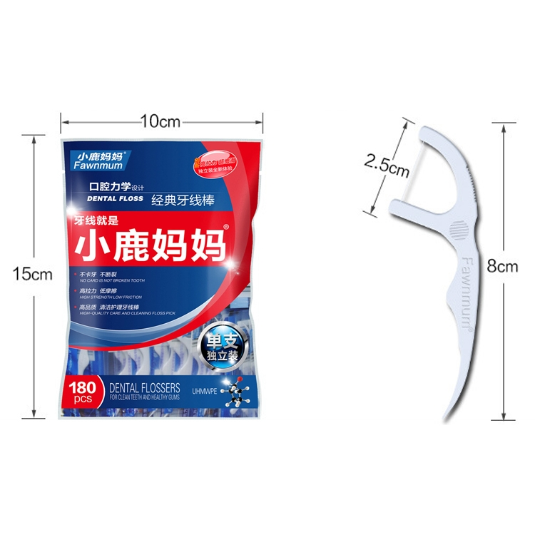 2 Packs Fawnmum Ultra-fine Safety Dental Floss Super Tension Toothpick  Thread