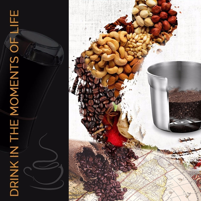 Stainless Steel Electric Mini Coffee Grinder Grain Bean Grinding Machine