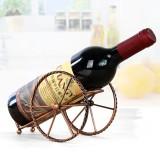 Creative European Metal Wine Decoration Wrought Iron Wine Rack for Single Wine Bottle Home decoration Interior Crafts