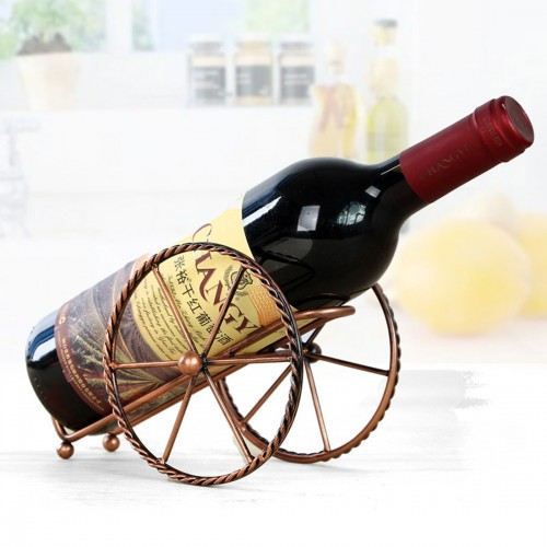 Creative European Metal Wine Decoration Wrought Iron Wine Rack for Single Wine Bottle Home decoration Interior Crafts