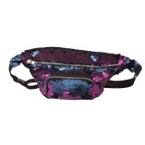 Sequins Waist Bag Double Color Makeup Bag Mermaid Purses Chest Pack Women Girl Travelling Mobile Phone Bag (Purple)