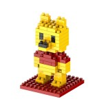 Bear Cartoon Assembled Children DIY Enlightenment Assembled Building Blocks Educational Intelligence Toy